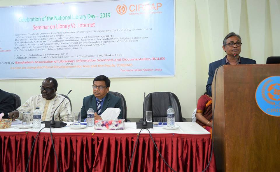 Seminar on Library vs Internet - Observation of National Library Day
