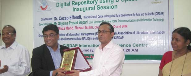 Training on DSpace: BALID Chairman and CIRDAP DG